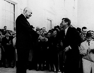 Kennedy meets Eisenhower