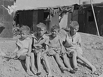 Children during the Great Depression