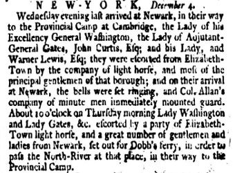 Copy of 1775 newspaper announcement