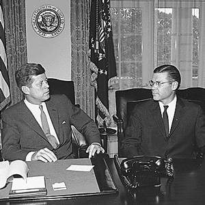 Kennedy and Robert McNamara
