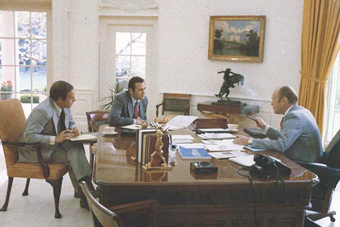 President Ford with Cheney and Rumsfeld