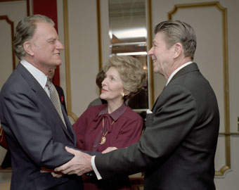 Billy Graham, Nancy Reagan, and Ronald Reagan