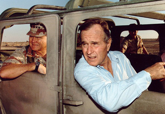 G. H. W. Bush in Saudi Arabia