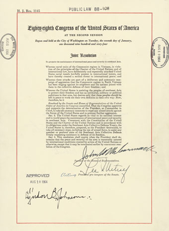 The Tonkin Gulf Resolution