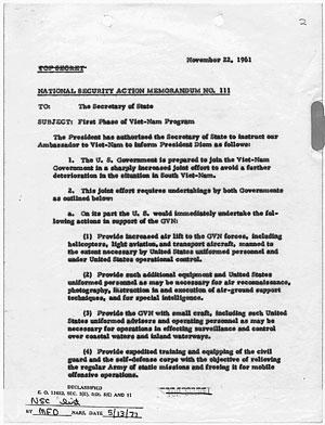 National Security Action Memo 111