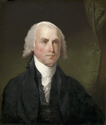 Painting of James Madison