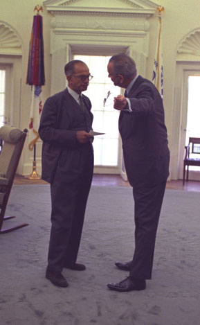 Lyndon Johnson and J. William Fulbright