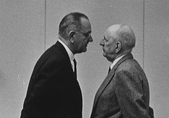 Lyndon Johnson with Richard Russell