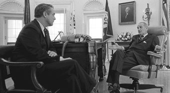 Sargent Shriver and Lyndon Johnson