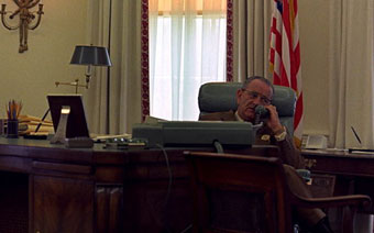 Lyndon Johnson on the phone