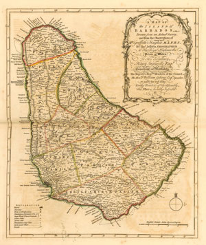 old Map of Barbados