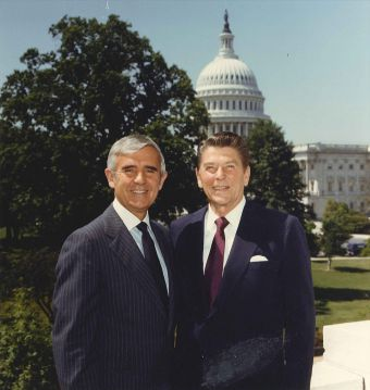 Paul Laxalt and Ronald Reagan, 1980