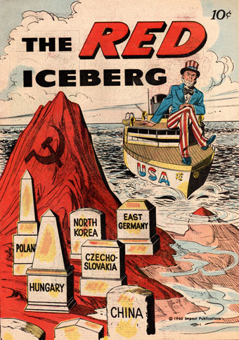"Comic cover: ""The red iceberg"""