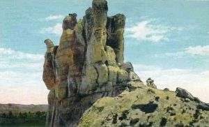 Historic postcard of Teapot Dome