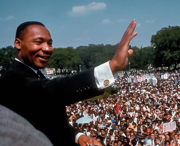 More than 250,000 people gathered for the March on Washington led by Martin Luther King and other Civil Rights Activists.