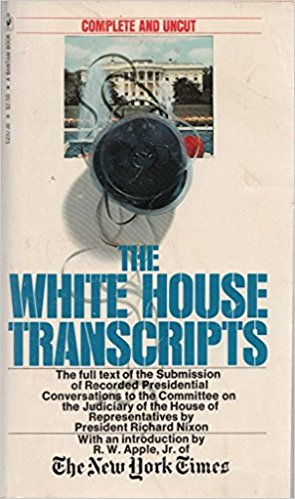 Cover of the White House tapes released in 1974