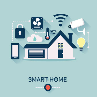 diagram of a smart home