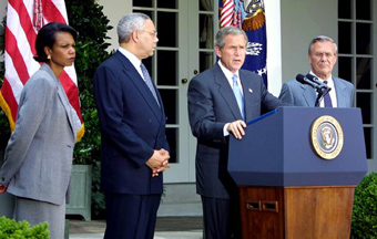 George W. Bush and advisors