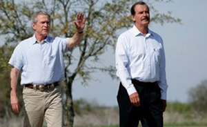 GW Bush and Vincente Fox