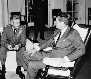 John F. Kennedy and Curtis LeMay