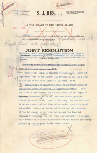 Declaration of War against Japan