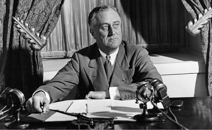 Image result for fdr's first fireside chat