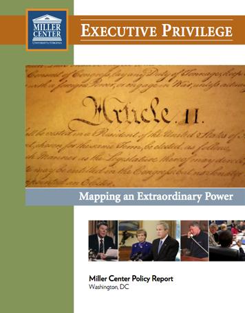 Executive Privilege | Miller Center