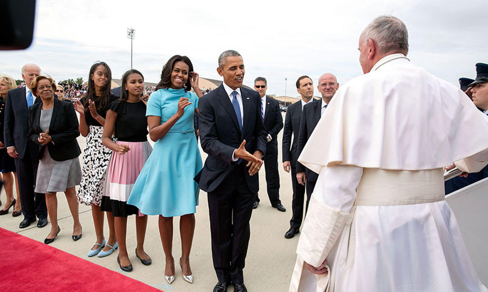 Obamas meet the Pope