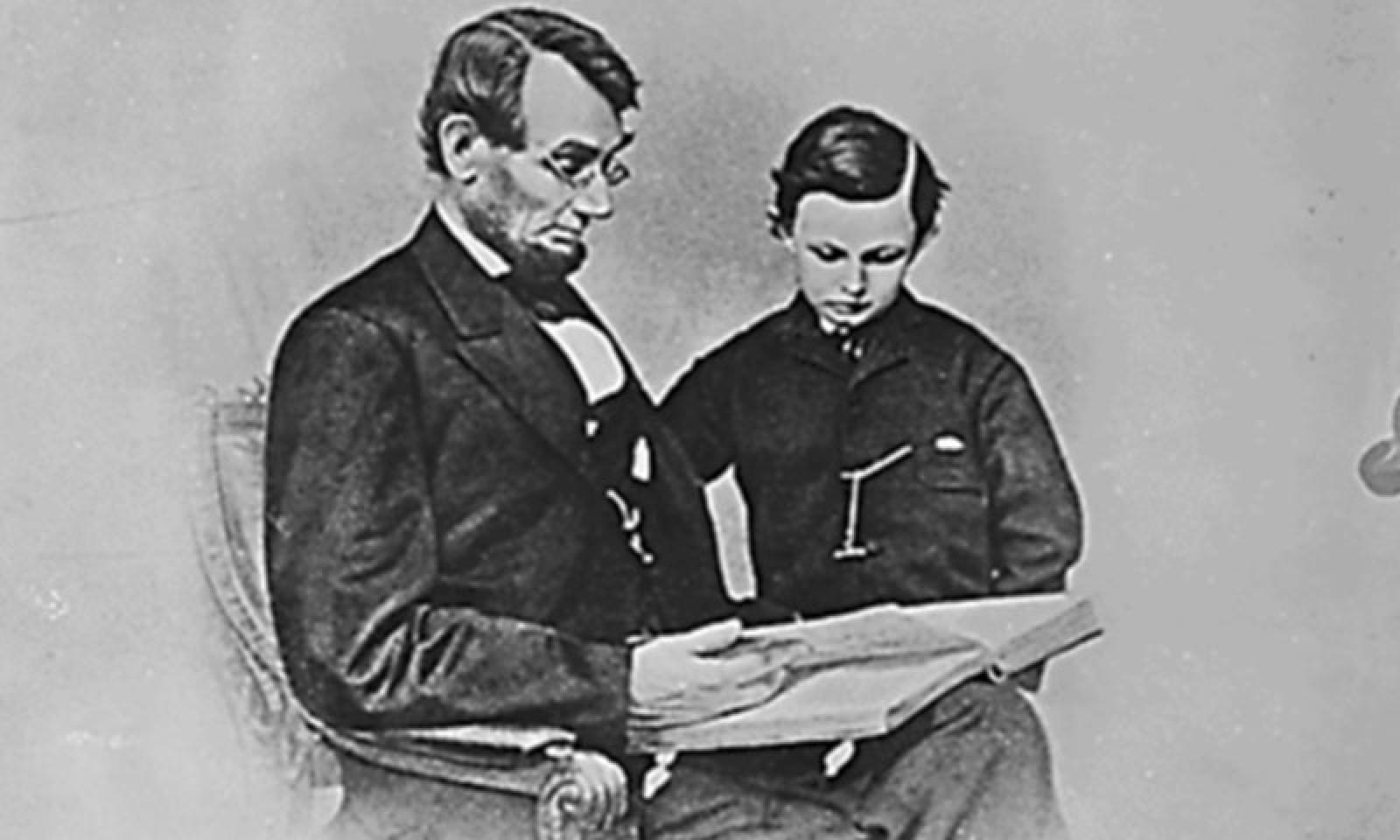 Lincoln with his son