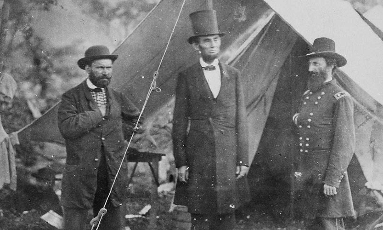 Lincoln with Pinkerton and McClernand