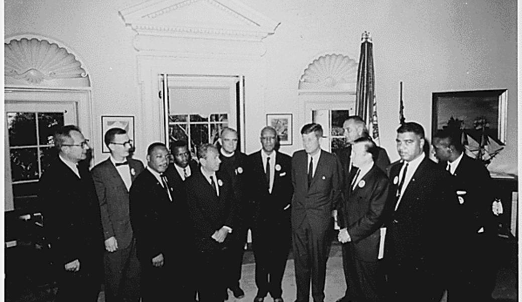 President Kennedy with Civil Rights leaders
