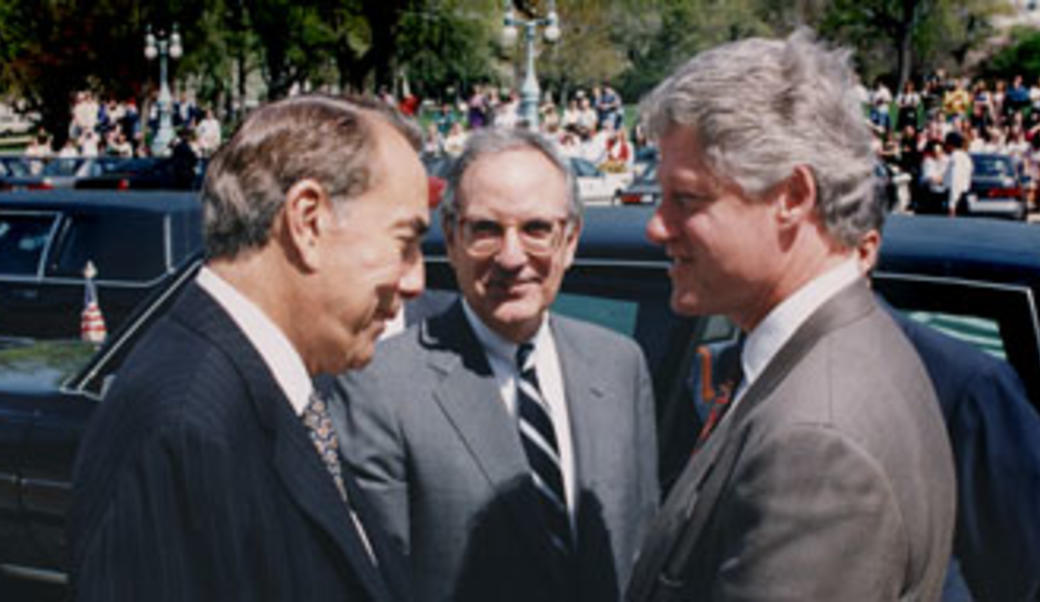 Bill Clinton and Bob Dole