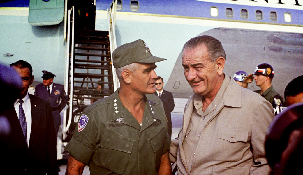 William Westmoreland and Lyndon Johnson