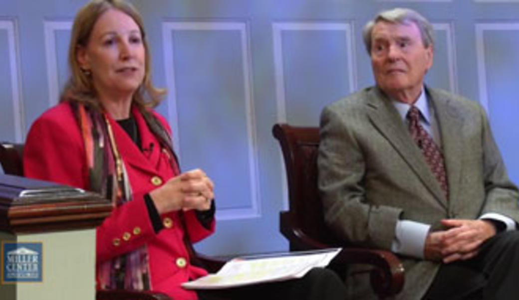 Barbara Perry and Jim Lehrer