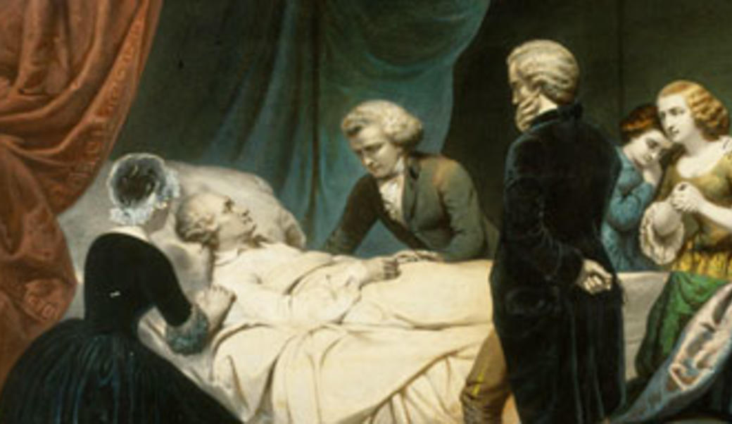 Painting of George Washington's death