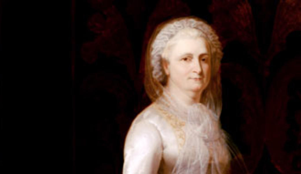Painting of Martha Washington