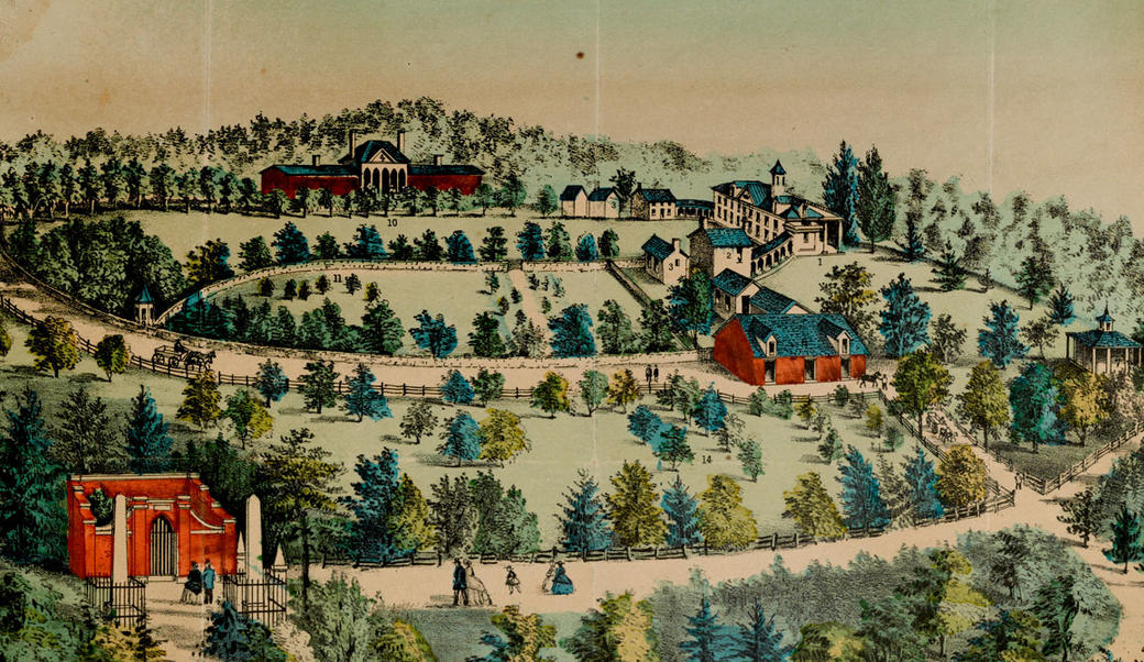 Color lithograph of Mount Vernon