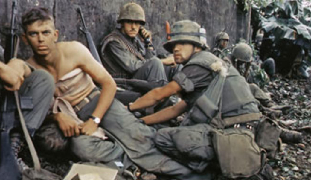 Wounded soldiers during Vietnam War