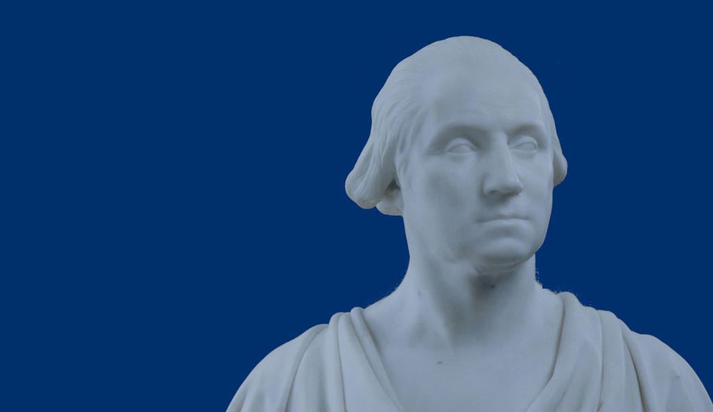 Marble bust of George Washington