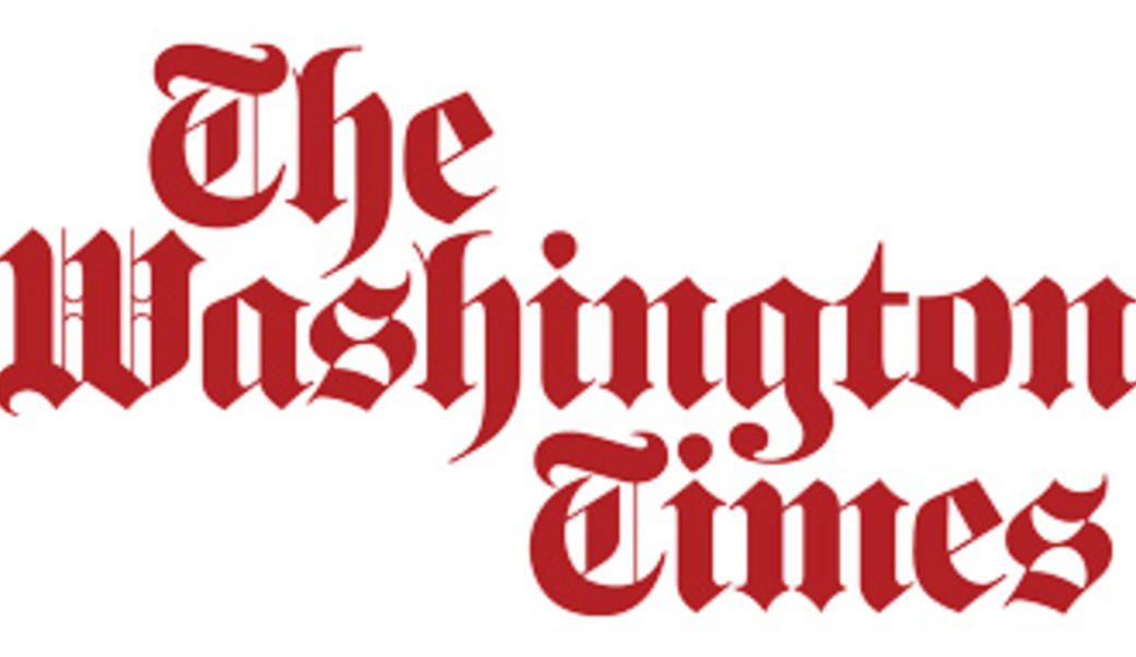 Washington Times logo in red