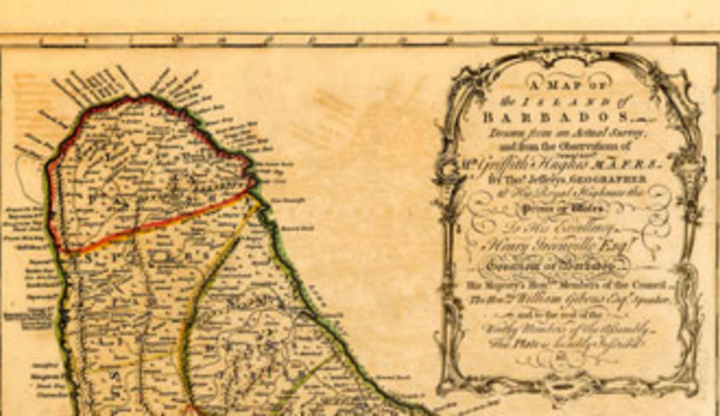 Map of Barbados (detail)