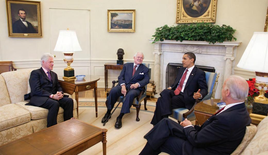 kennedy meeting with Obama and Clinton