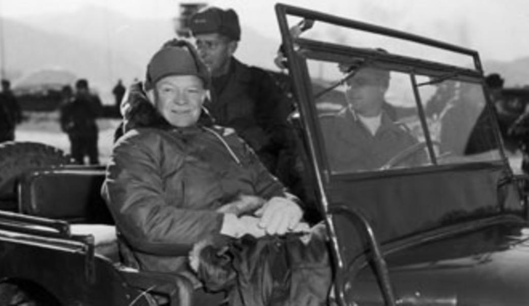 Eisenhower in a Jeep