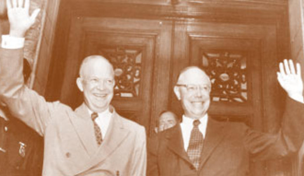 Dwight Eisenhower and Robert Taft