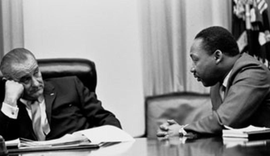 MLK and President Johnson