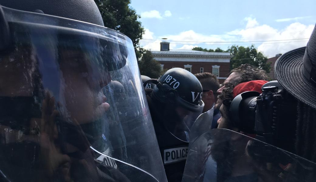 White supremacists clash with police in Charlottesville
