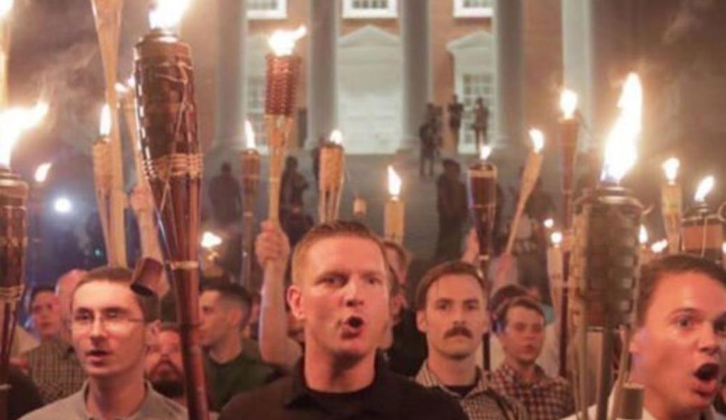 Mob with torches in Charlottesville