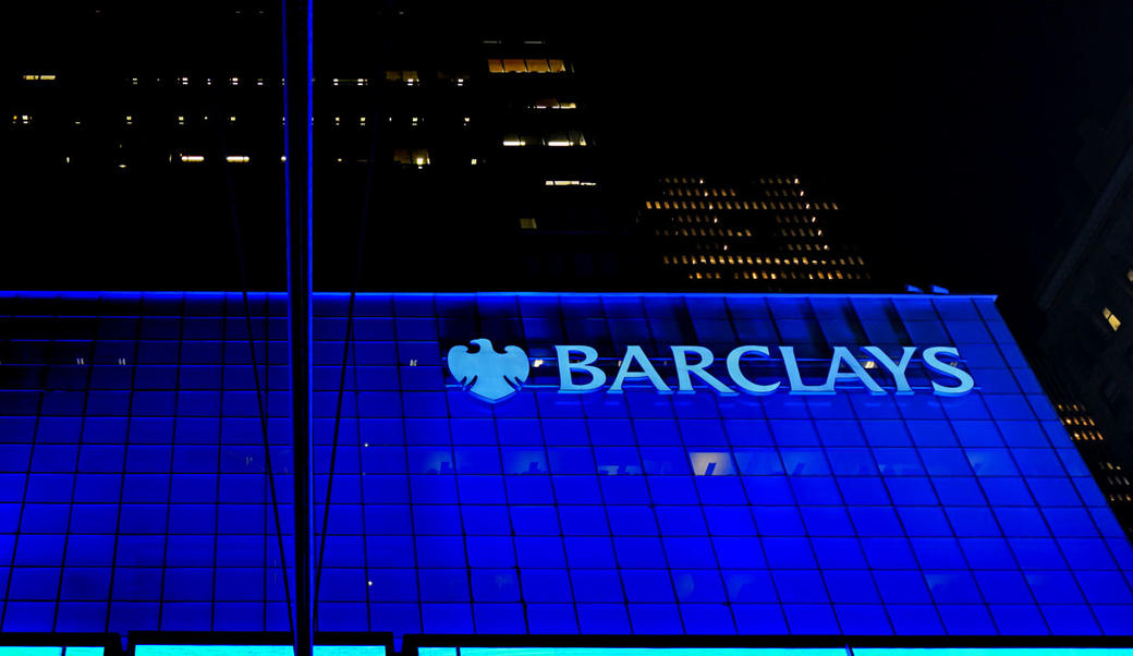 Barclay's Bank at Night