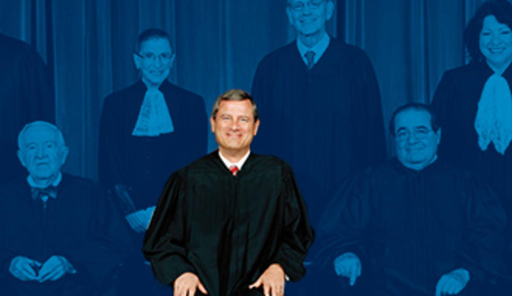 John Roberts with the Supreme Court