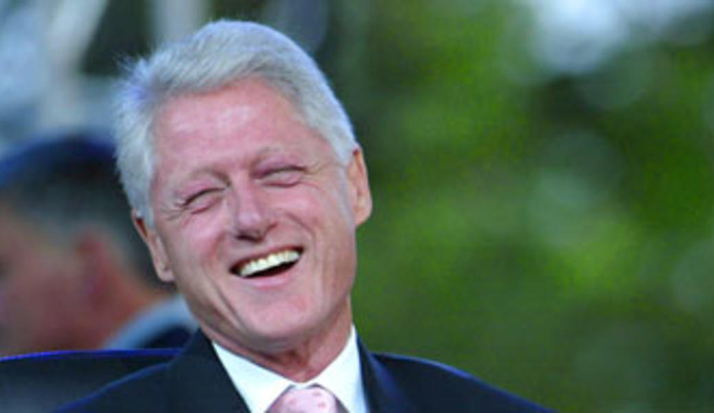 Bill Clinton laughing